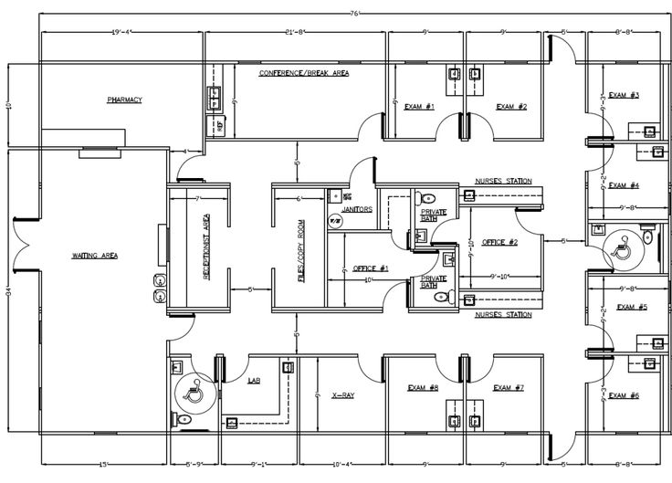 Medical Office Layout Sample Floor Plans And Photo