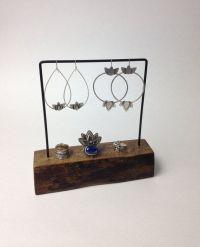 Live edge earring stand, jewelry holder, earring display ...