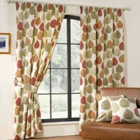 Inglewood Modern Leaf Print Curtains - Terracotta from 20 ...