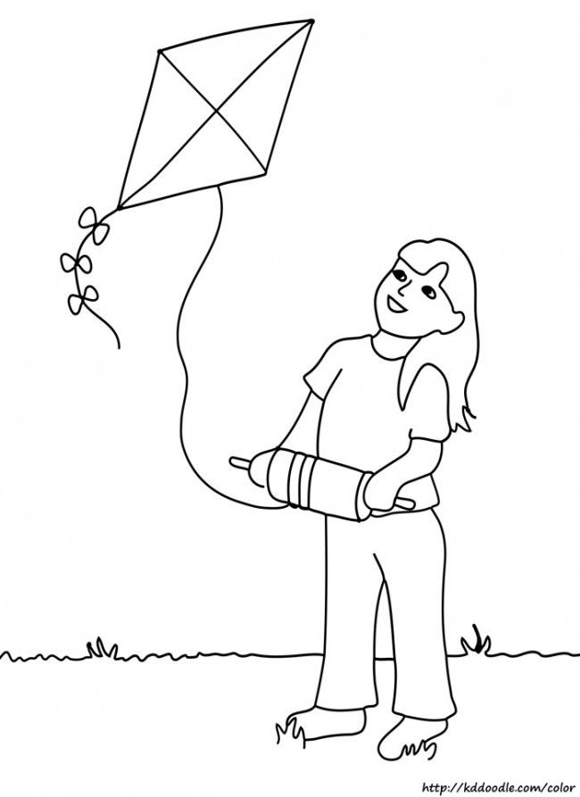 29 best images about Kite Coloring Pages on Pinterest