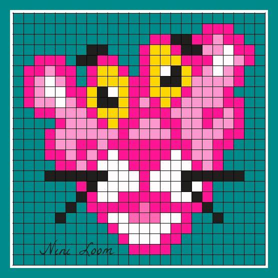 Pink Goku Perler Beads Pattern