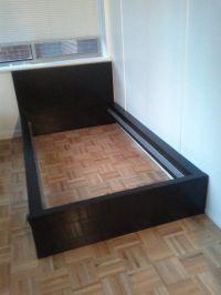 IKEA twin bed frame (black)   Kid stuff   Pinterest ...