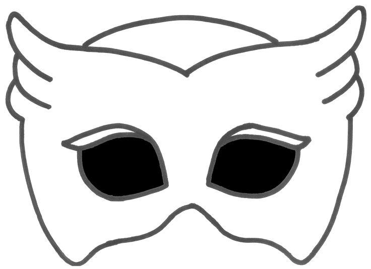 printable owlette mask  transparent background  brynn