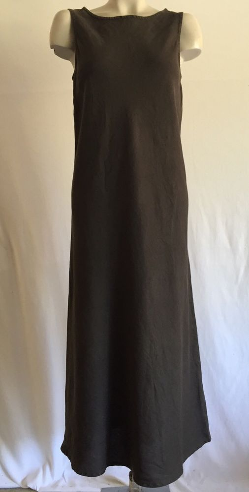 EILEEN FISHER LONG LINEN MAXI DRESS SZ M EileenFisher Maxi Casual  Dresses  Pinterest