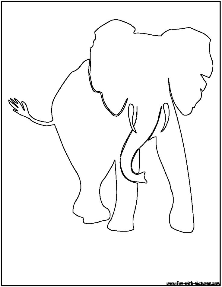 african-elephant-outline.png 850×1,100 pixels