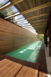 Oblique view of indoor lap pool at The Dalrymple Pavilion ...