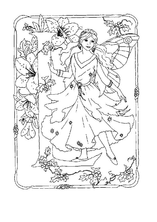 83 best images about Fairy Coloring Pages on Pinterest