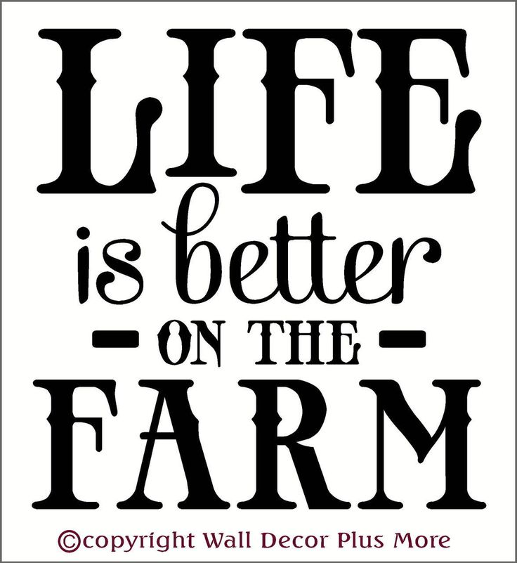 Life is Better On the Farm Wall Decal Quotes Country Wall