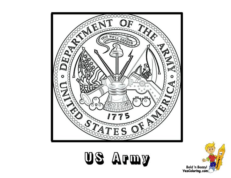 USA Army Flag Coloring Page... You have all the USA armed