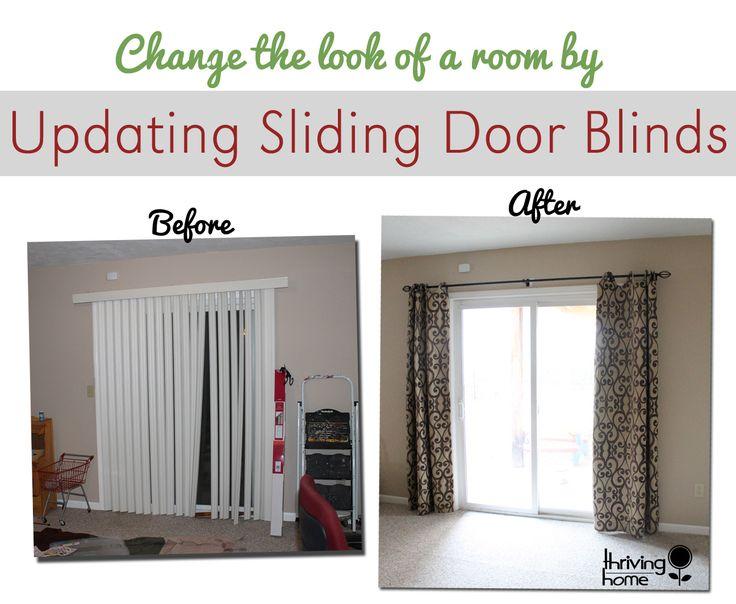 Top 25+ best Sliding door window treatments ideas on