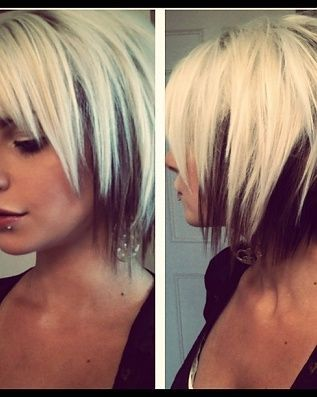 black and white hair pinterest hair coloring and peekaboo highlights