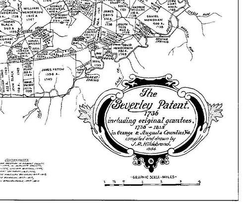 SE section of the Beverly Patent, Orange & Augusta