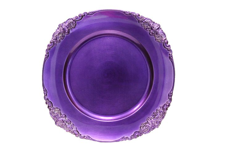 Vintage Round Charger Plate  Purple  Things I like