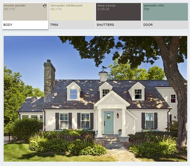 Benjamin Moore Revere Pewter Exterior Paint Siding
