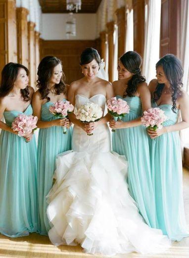 Vestidos para damas en color menta