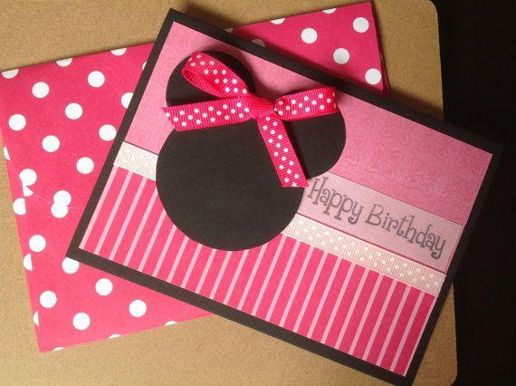 Handmade Minnie Mouse Birthday Card Minnie By