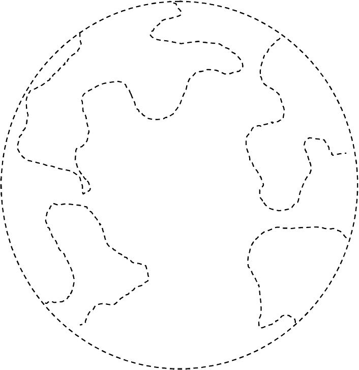 Fine Motor Tracing and Coloring for Earth Day. Pinned by