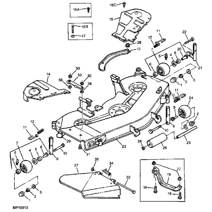 John Deere Sabre Deck Diagram, John, Free Engine Image For