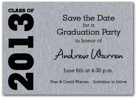 Graduation Save The Date Cards: Graduation Save the Date