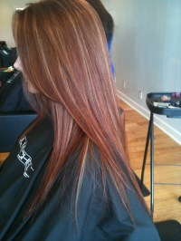 Red hair blonde highlights | Hairstyles | Pinterest | Red ...