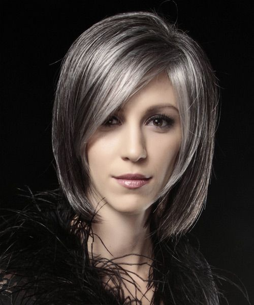 417 best Chic silvergrey charcoal grey hair images on Pinterest