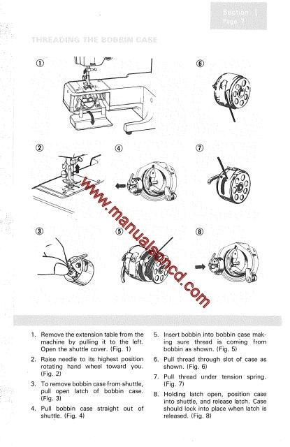 1105 best images about Sewing Machine Manuals on Pinterest