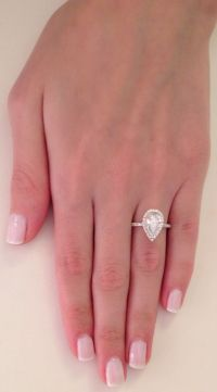 2 25 Ct Pear Cut D SI1 Diamond Solitaire Engagement Ring ...