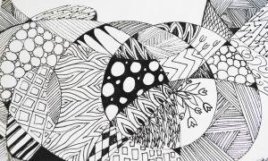 zendoodle zentangle zen doodles sugar fat fun drawing animal flamingo