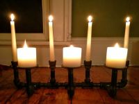 diy fireplace candelabra with plumbing pipe   Industrial ...