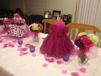 Baby girl shower centerpieces | Pinks and purples ...