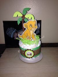 Baby Simba Diaper Cake Mini- lion king baby shower- lion ...