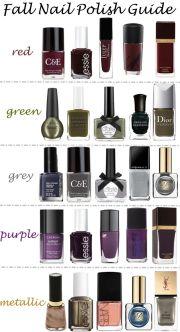 fall nail polish guide