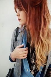ginger blonde dip dye color