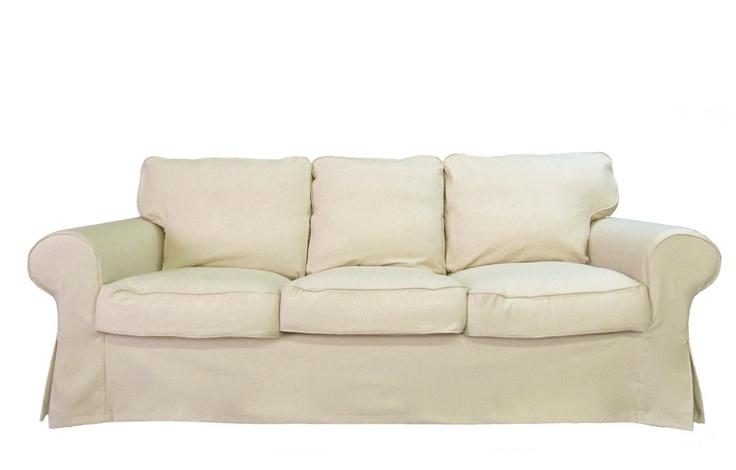 oatmeal sofa ex display leather corner sofas uk ikea ektorp custom slipcover in linen ...