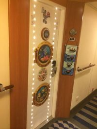 Our door decoration for Disney Wonder