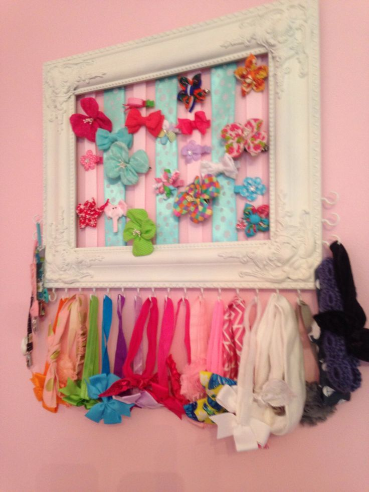 25+ best ideas about Hair bow holders on Pinterest