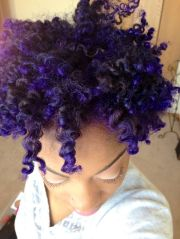 black girls natural purple hair
