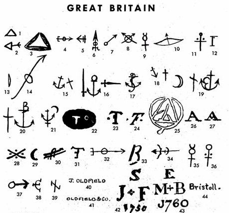 Pottery & Porcelain Makers Marks- logos GREAT Reference