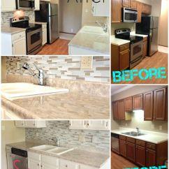 Diy Refinish Kitchen Cabinets Deign Before And After $300 Transformation! Backsplash ...