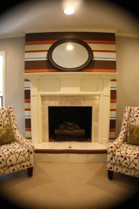 Kristen F. Davis Designs: Striped Fireplace Wall