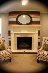 Kristen F. Davis Designs: Striped Fireplace Wall