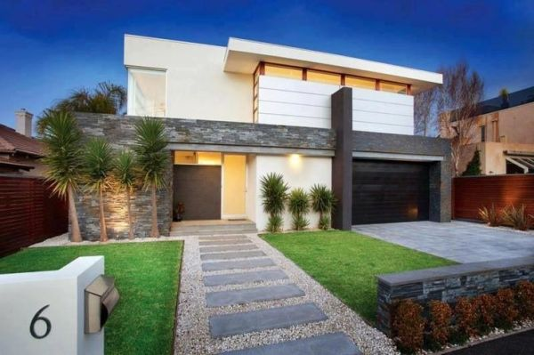 modern front-yard residential