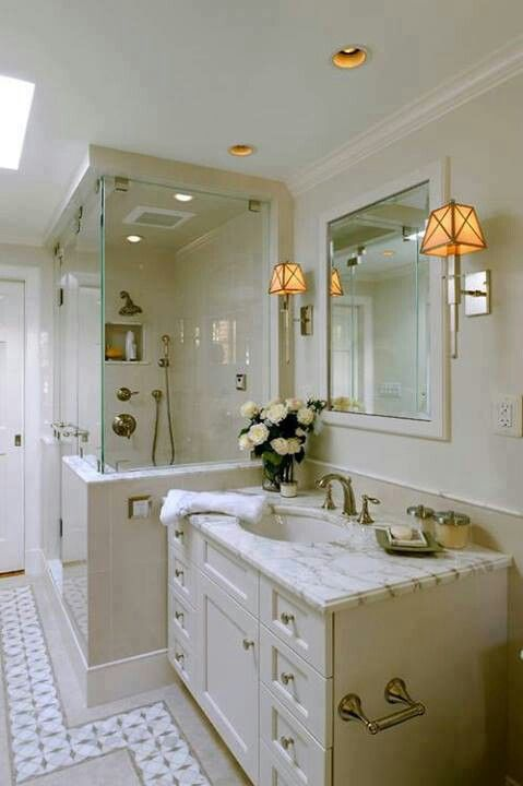 12 best images about Standup shower on Pinterest  Small master bathroom ideas Small sink and