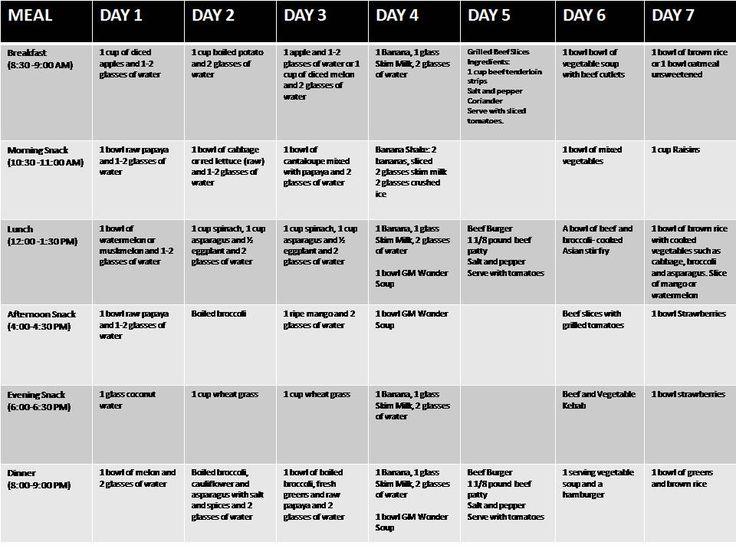 design pinterest diet meals plans and gm diet