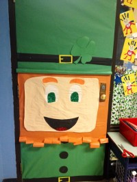 Classroom door for March