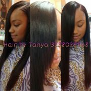 laid side part sew in tanya