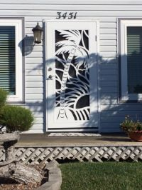 Adorable palm tree security / screen door.   Home: Home ...