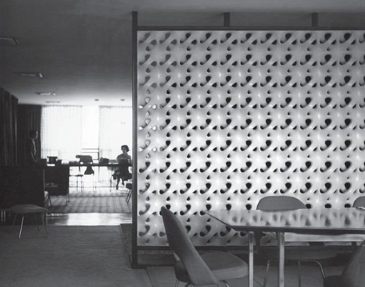 Knoll Showroom, Mexico City, Erwin Hauer, 1961.