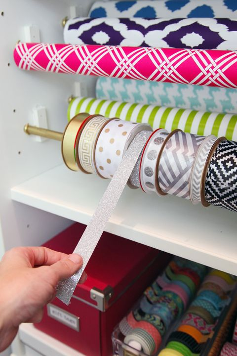 I am crazy jealous and in love with this gift wrapping station.