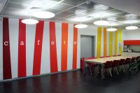 vinyl wall graphics cafeteria